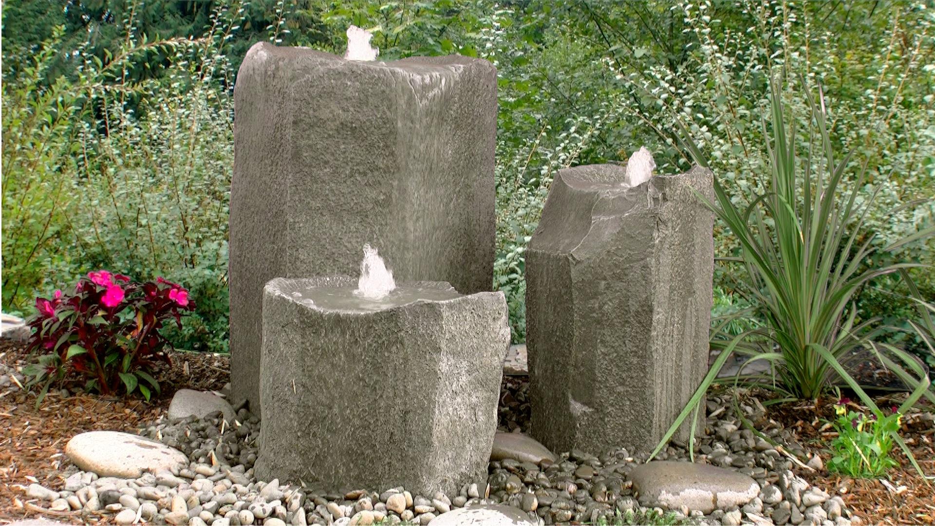 Bird Bath Triple Fountain