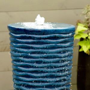 www.LiquidArtFountains.com Round Ripples Pottery