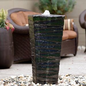 www.LiquidArtFountains.com Stripes Pottery