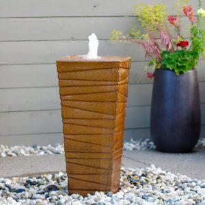 www.LiquidArtFountains.com Stripes Rust Glaze